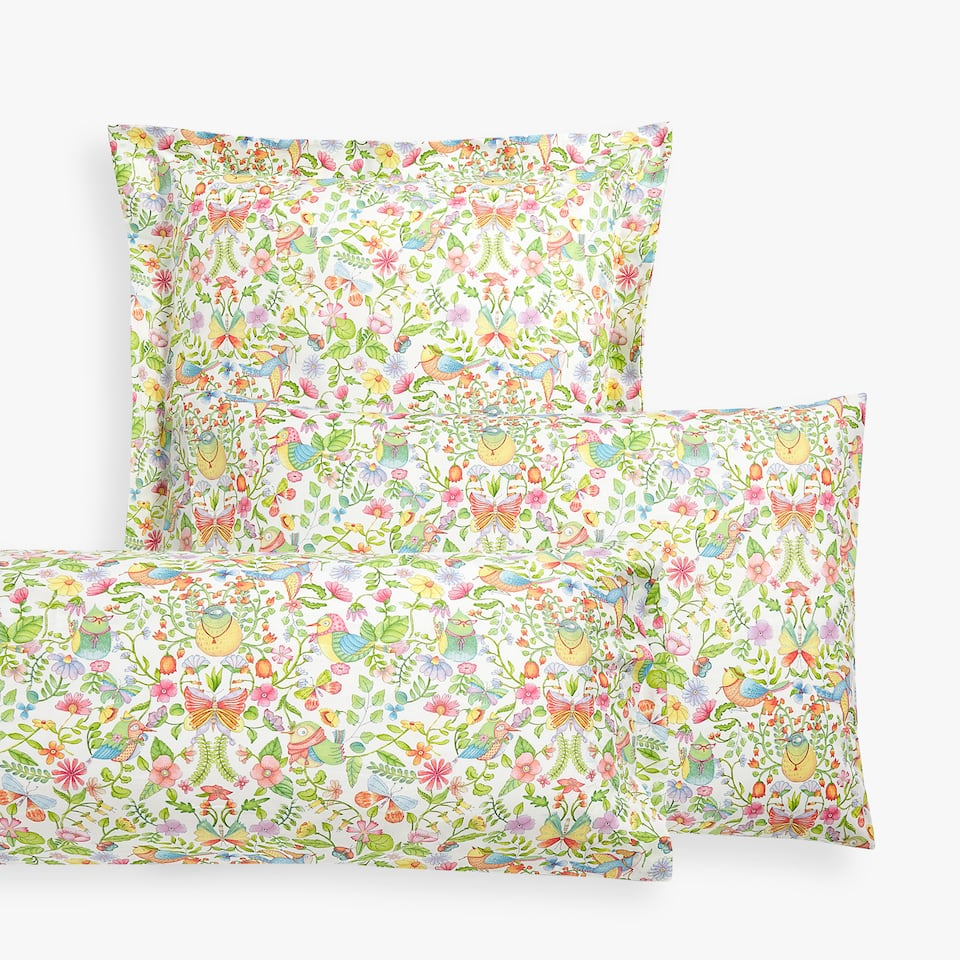 FLOWERS AND BIRDS PILLOWCASE