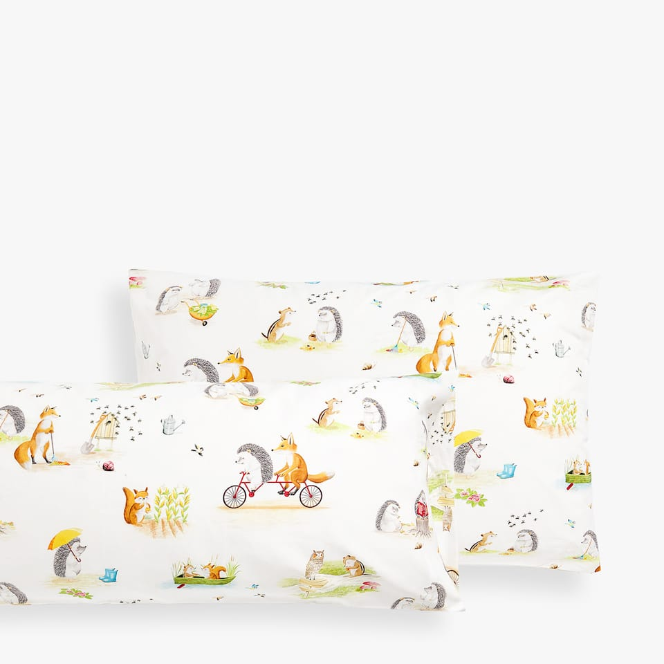 FOREST CREATURES PILLOWCASE