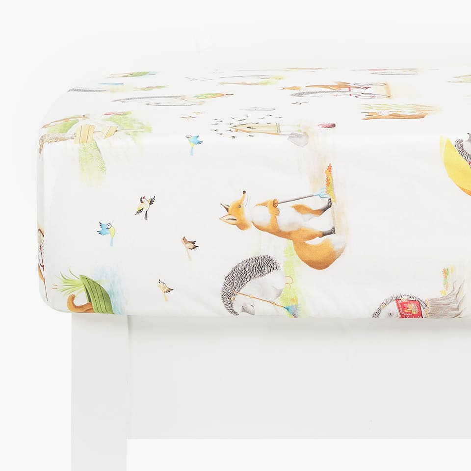 FOREST CREATURES FITTED SHEET