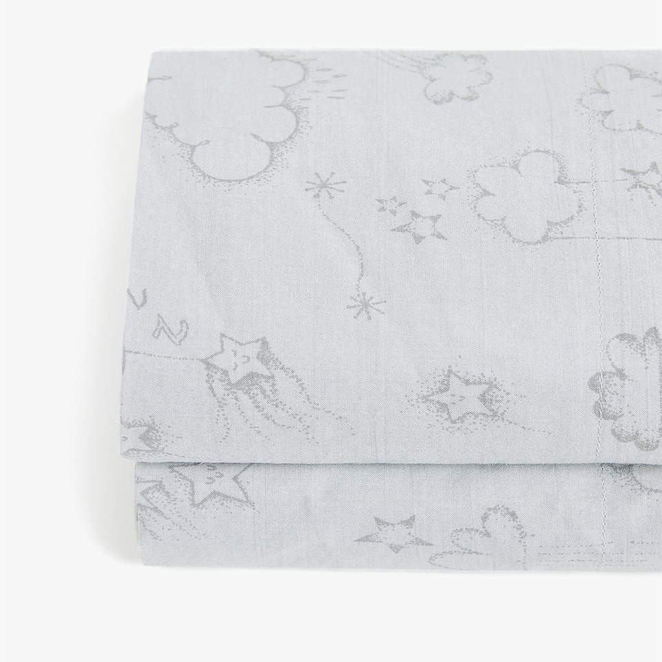 SUN AND CLOUDS PRINT TOP SHEET