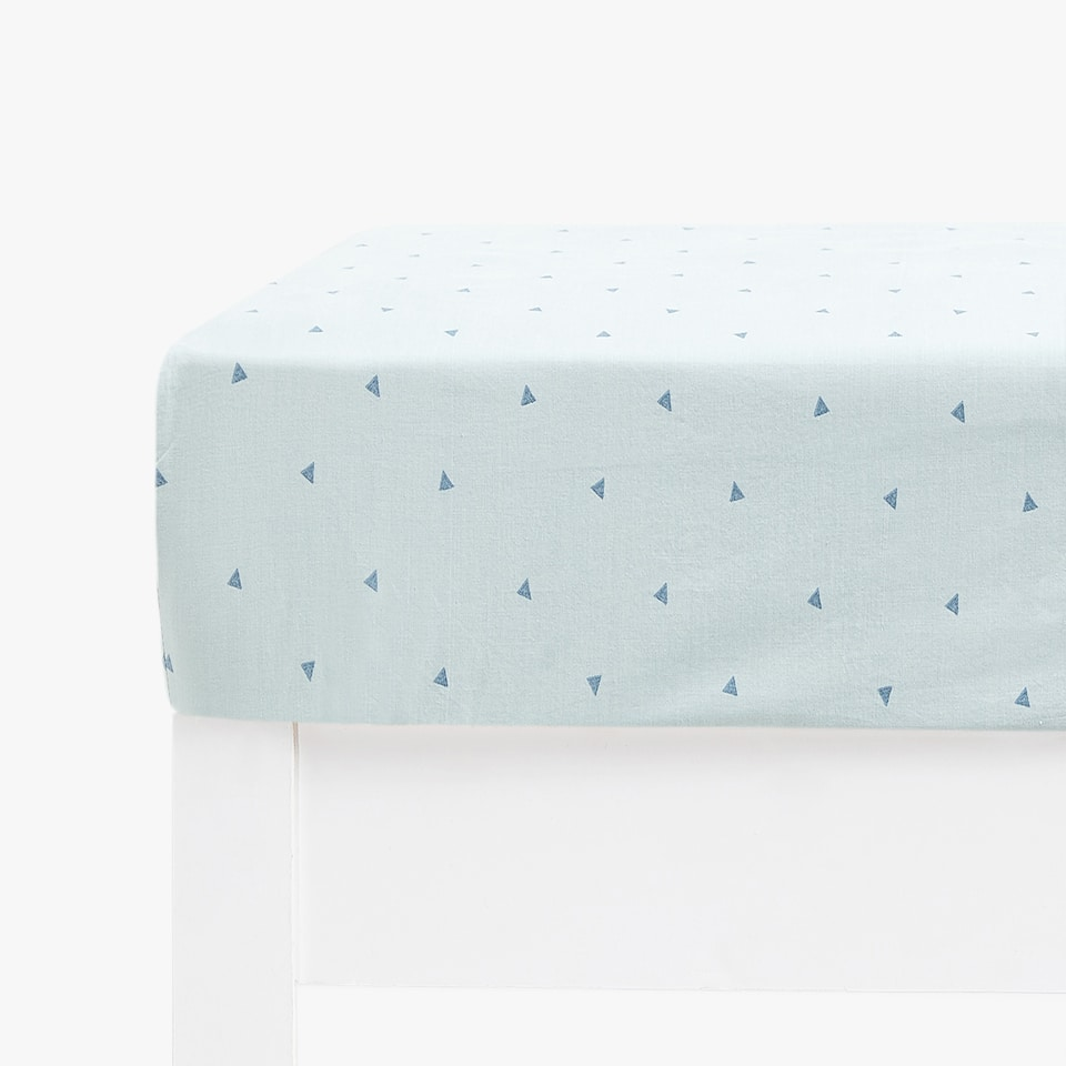POLKA DOT PRINT FITTED SHEET