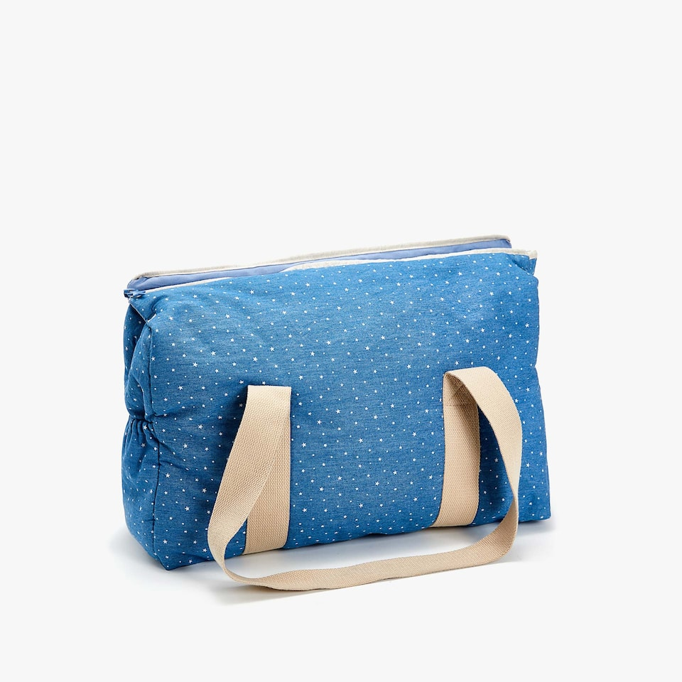 DENIM STAR PRINT MATERNITY BAG
