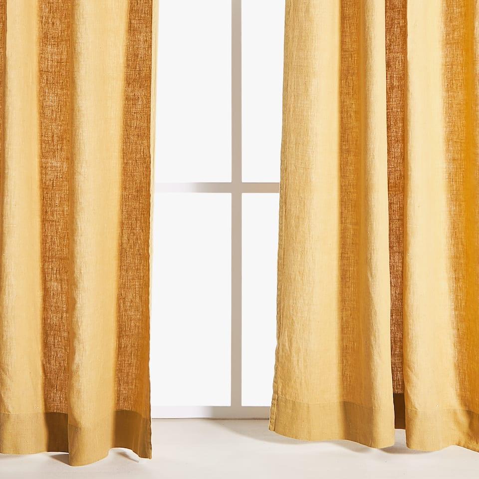 Heavy linen curtain