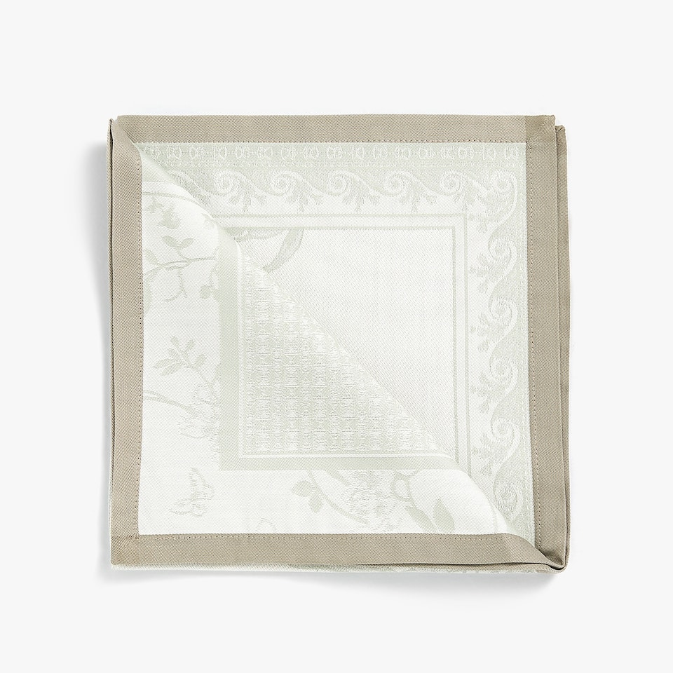 JACQUARD LEAF NAPKIN (PACK OF 4)