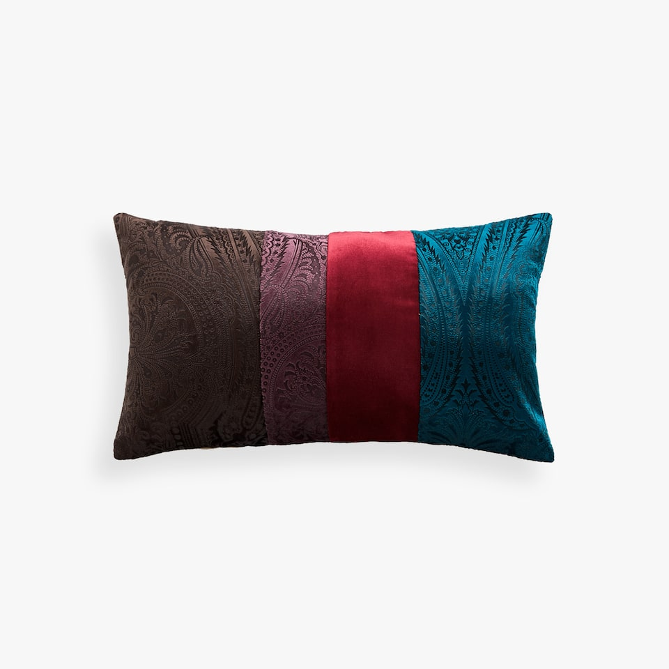 STRIPED VELVET CUSHION COVER