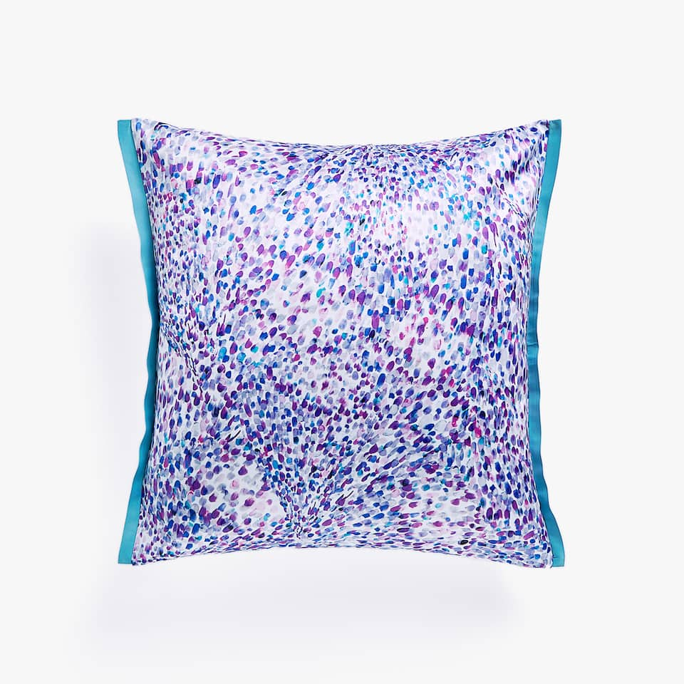 MULTICOLOURED PRINTED CUSHION COVER