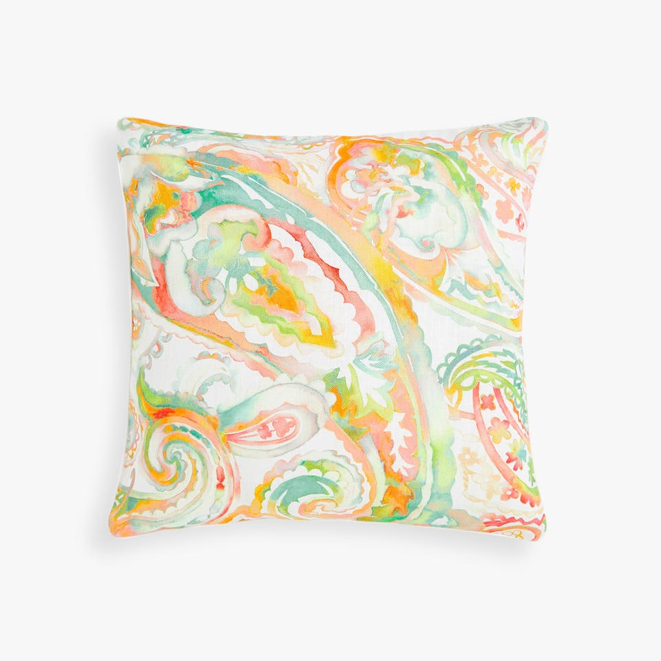 WATERCOLOUR PAISLEY CUSHION COVER