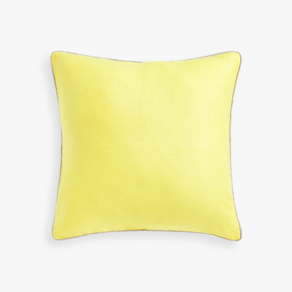 THROW PILLOW COVER WITH RHINESTONES