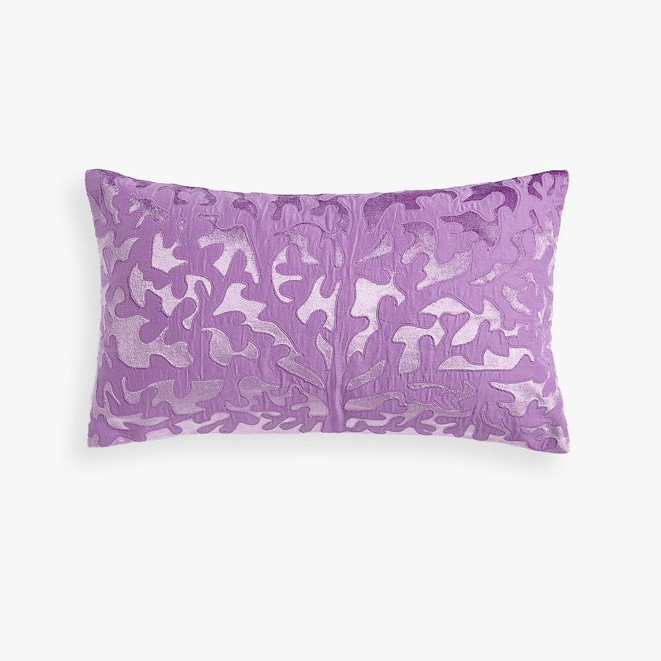 CORAL-EFFECT CUSHION COVER