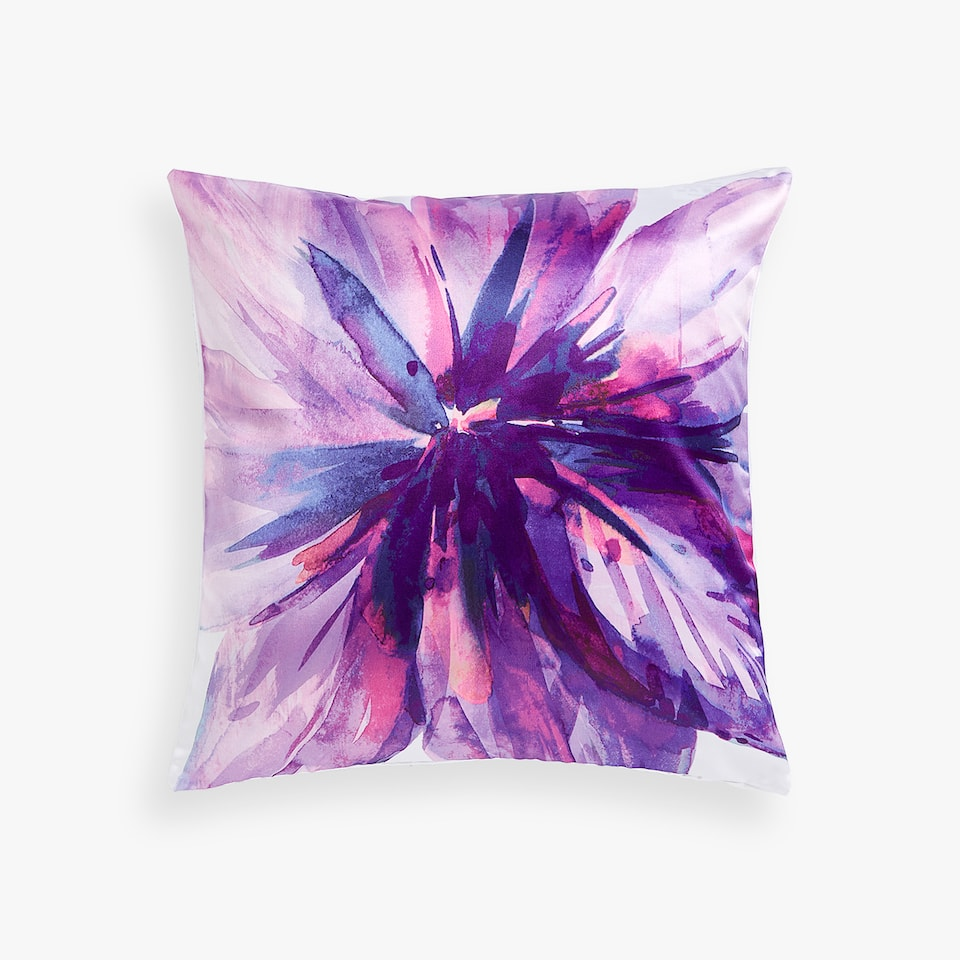 MULTICOLORED SATEEN THROW PILLOW COVER
