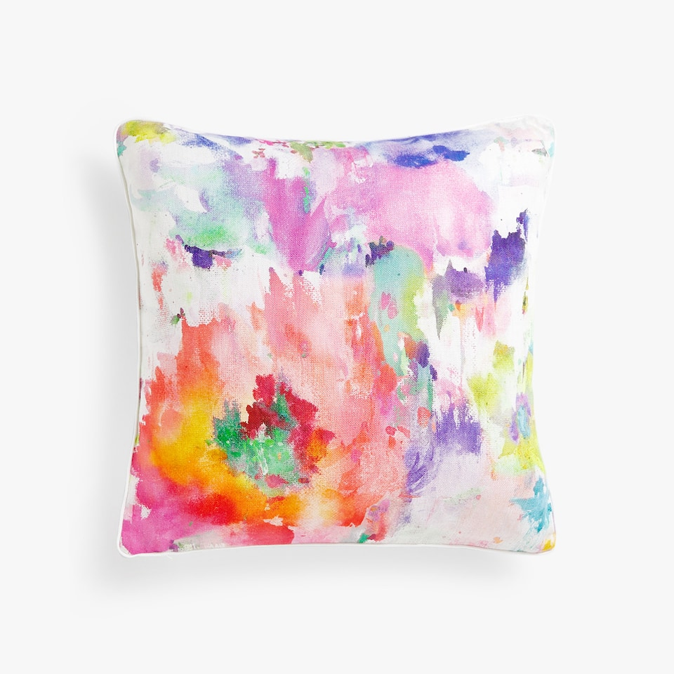 LILAC-TONED MAXI FLOWER CUSHION COVER