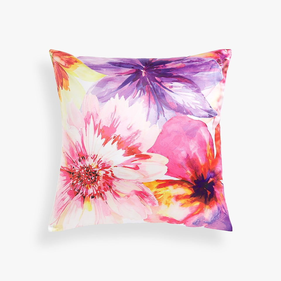 COMBINED MAXI FLOWER THROW PILLOW COVER