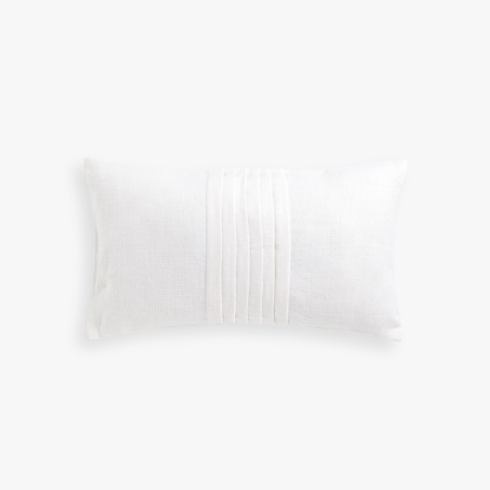 PLEATED LINEN CUSHION COVER