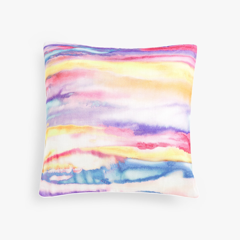 BRUSHSTROKE PRINT THROW PILLOW COVER