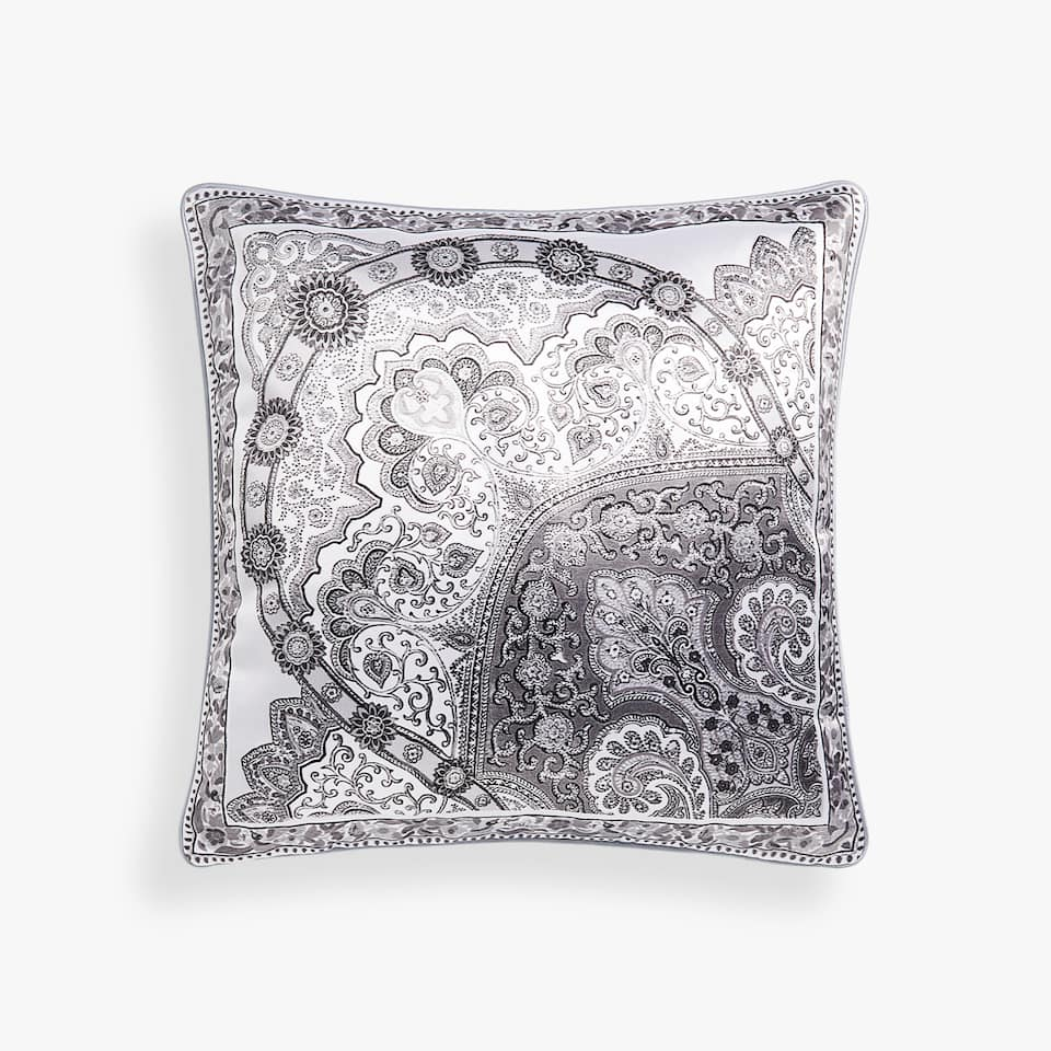 PAISLEY CUSHION COVER WITH FRINGES