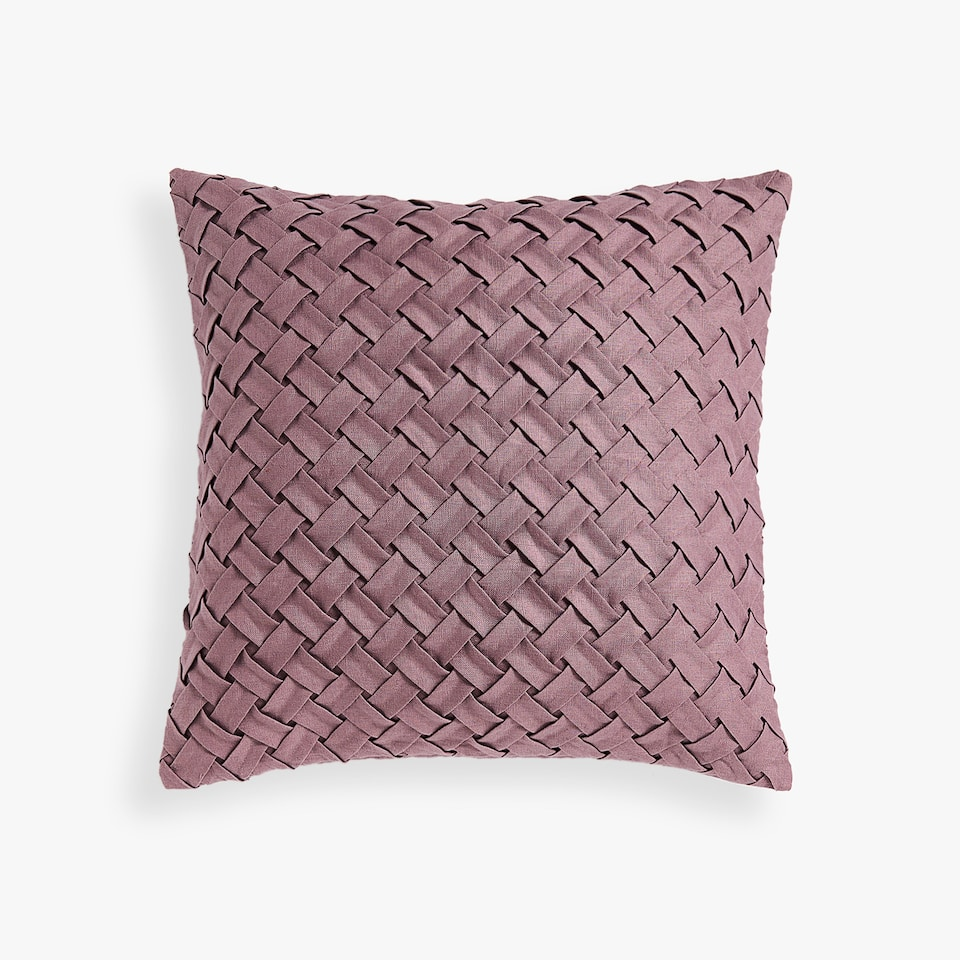 LINEN CUSHION COVER WITH PLEATS