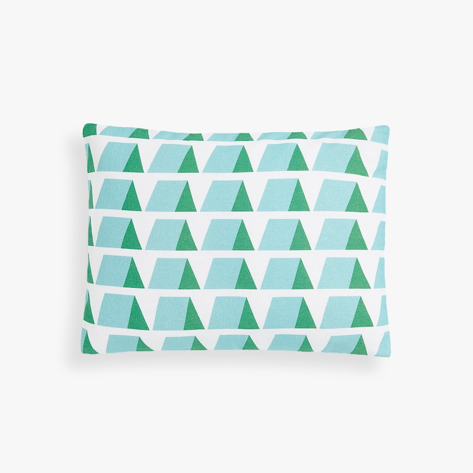 COTTON CUSHION COVER WITH GEOMETRIC PRINT