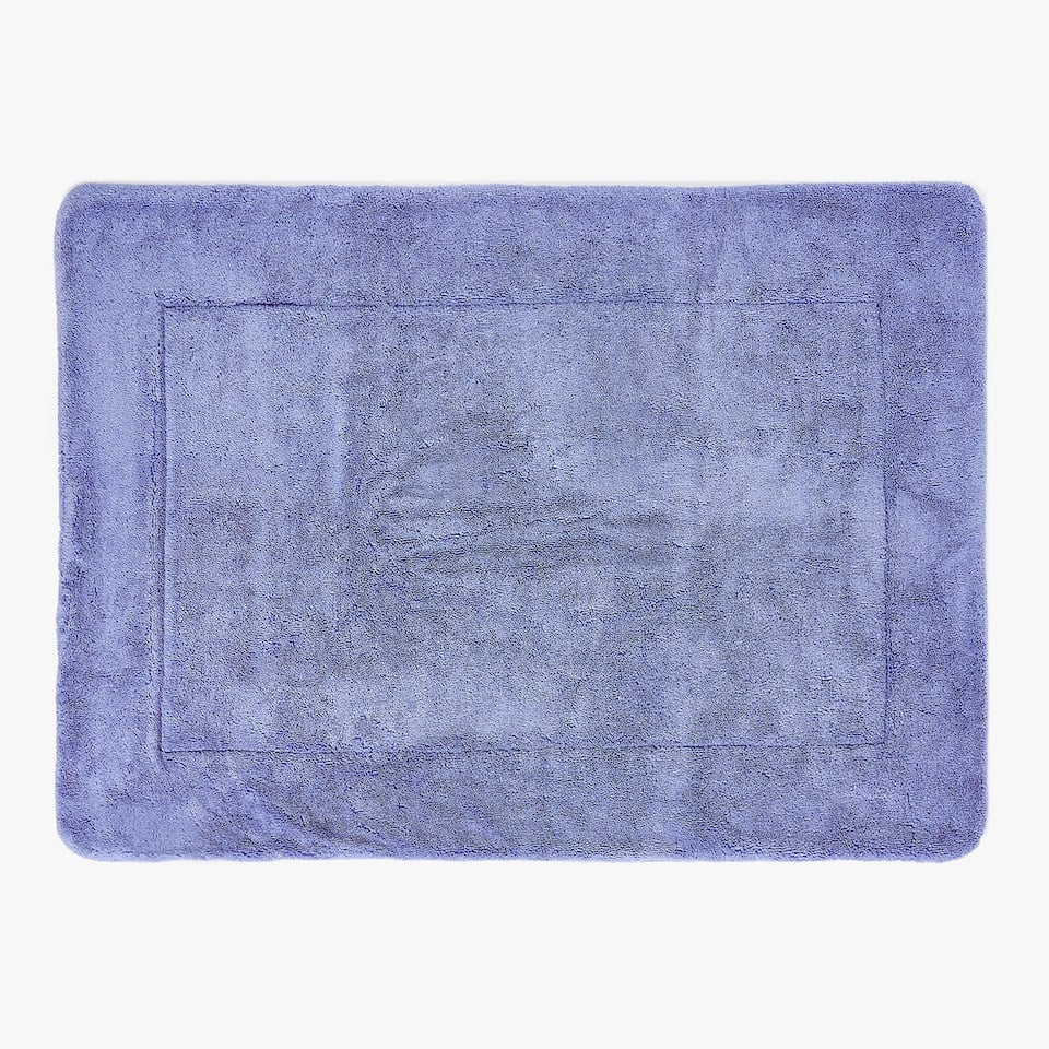 COTTON BATH MAT WITH JACQUARD STRIPE