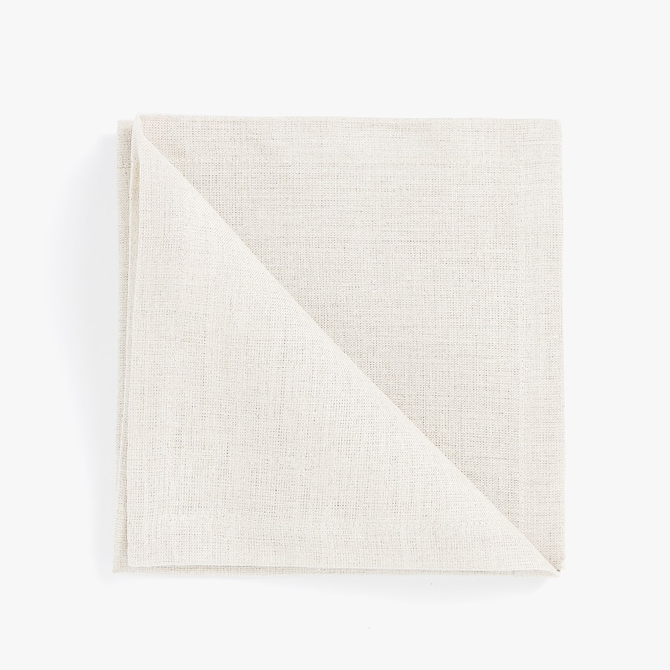 Serviettes de table lin basic (lot de 4)