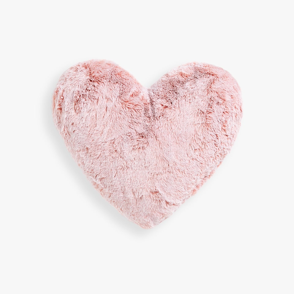 HEART-SHAPED FAUX FUR CUSHION