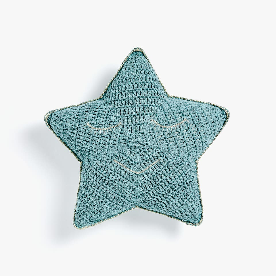 STAR-SHAPED CROCHET CUSHION