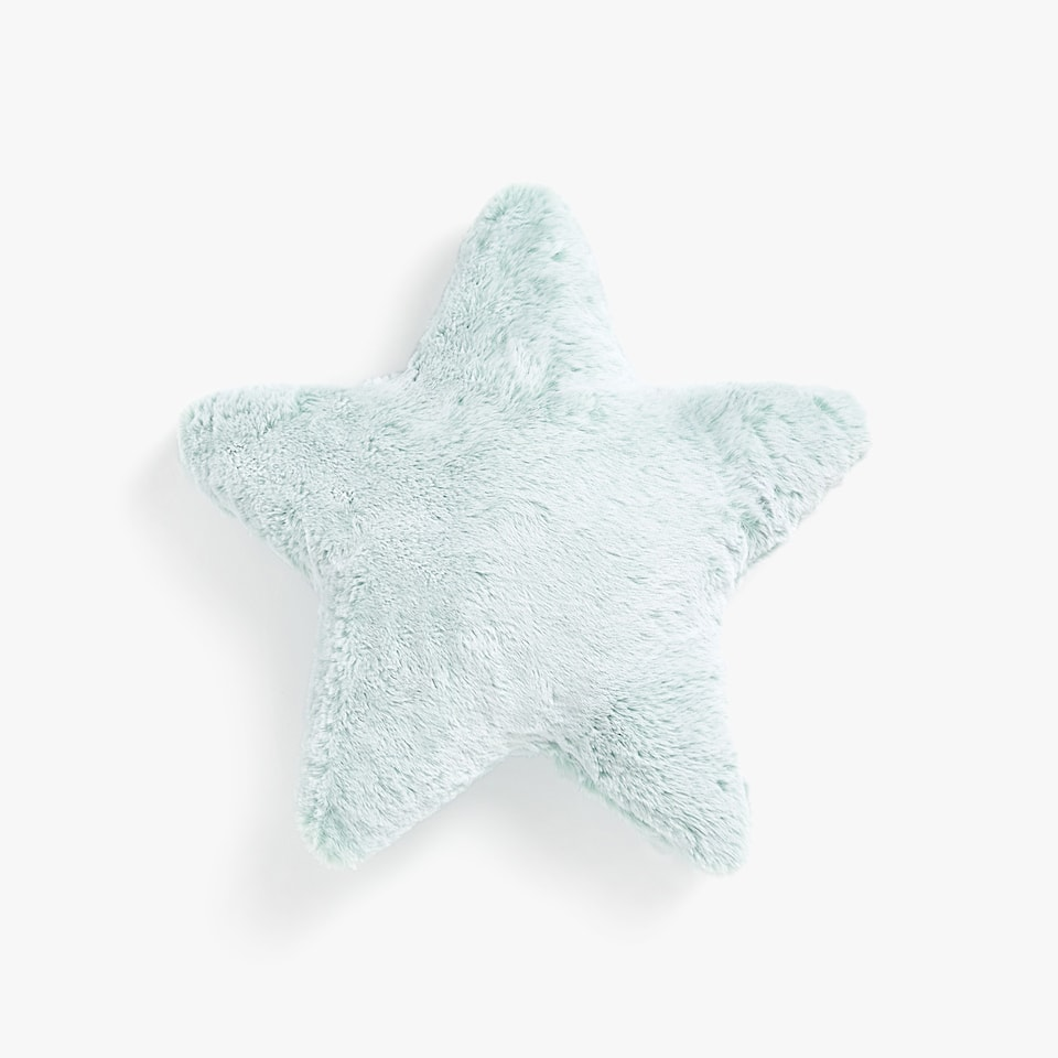 STAR-SHAPED FAUX FUR CUSHION
