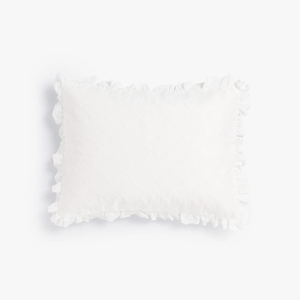 BRODERIE ANGLAISE CUSHION COVER