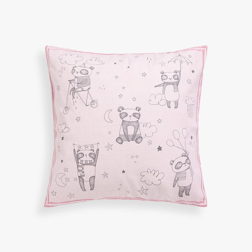 PANDA BEAR PRINT CUSHION COVER