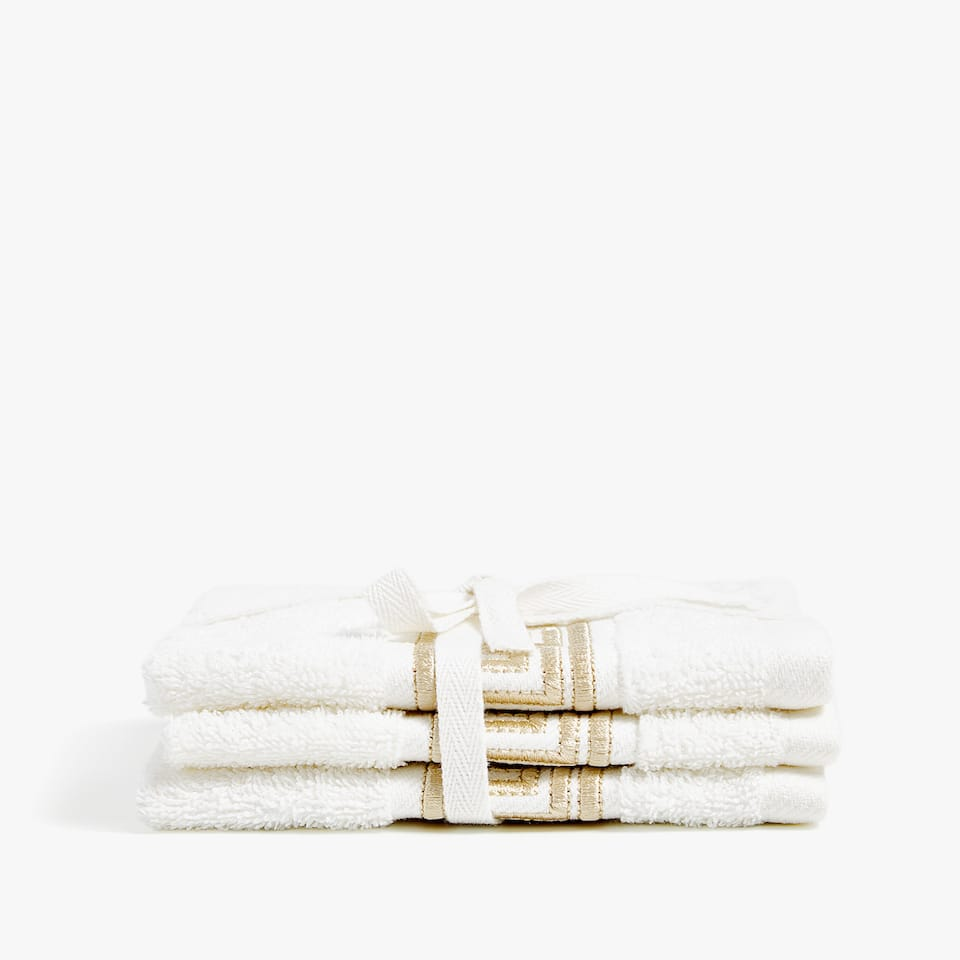 Geborduurde handdoeken (set van 3)