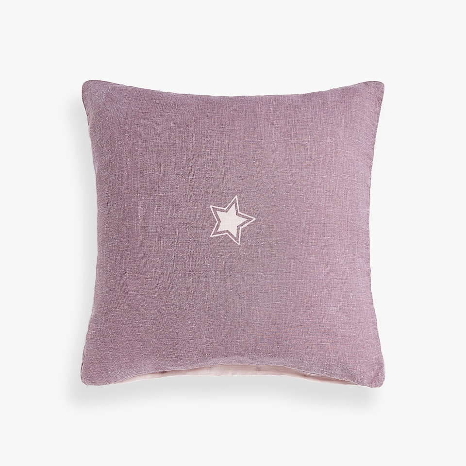 LINEN STAR CUSHION COVER