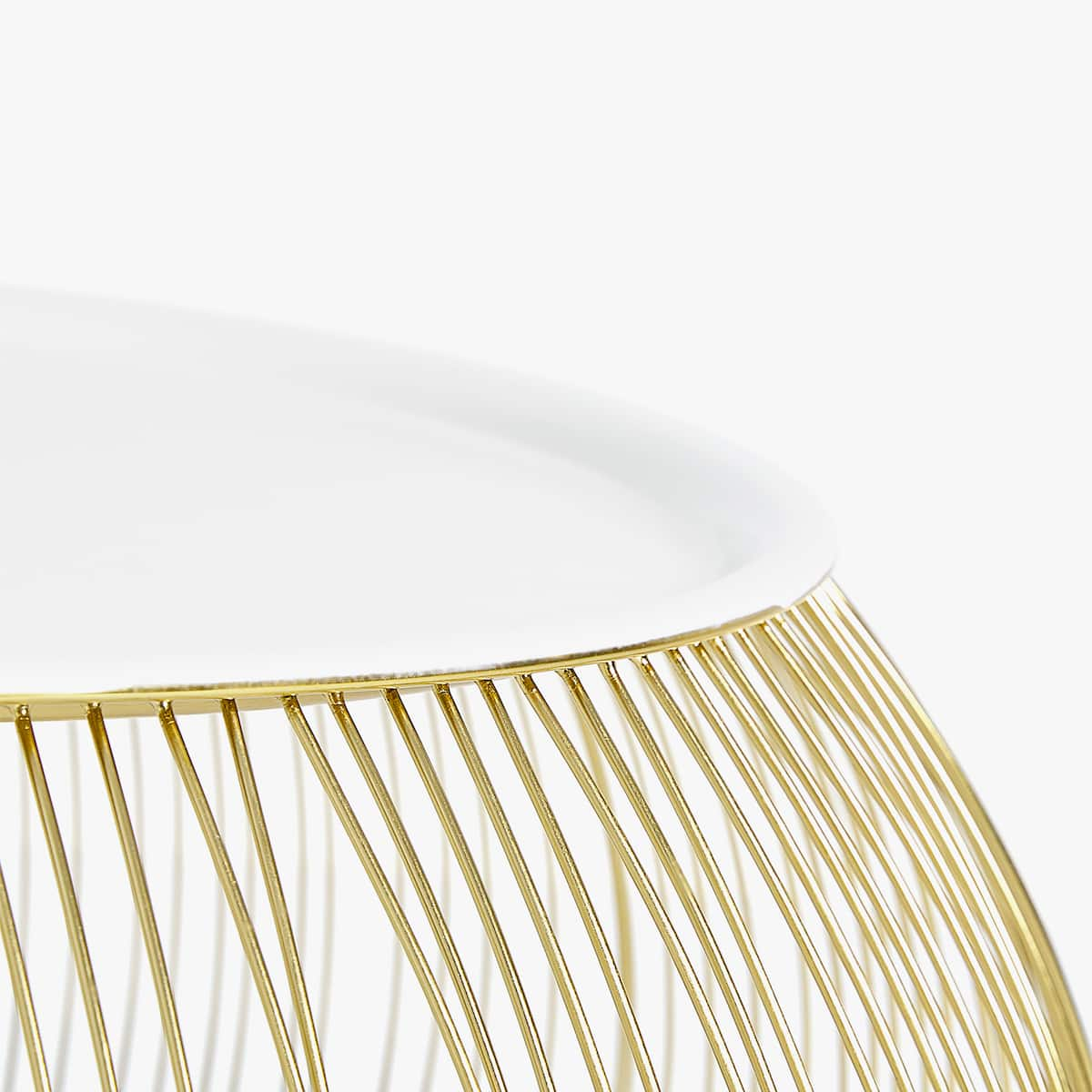 Gold wire iron side table furniture decoration zara home image 3 of the product gold wire iron side table greentooth Choice Image
