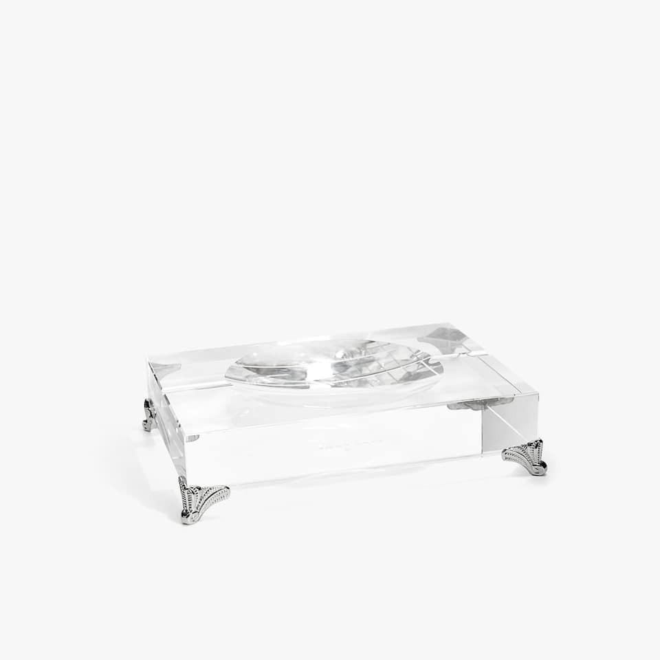 GLASS ASHTRAY WITH LEGS