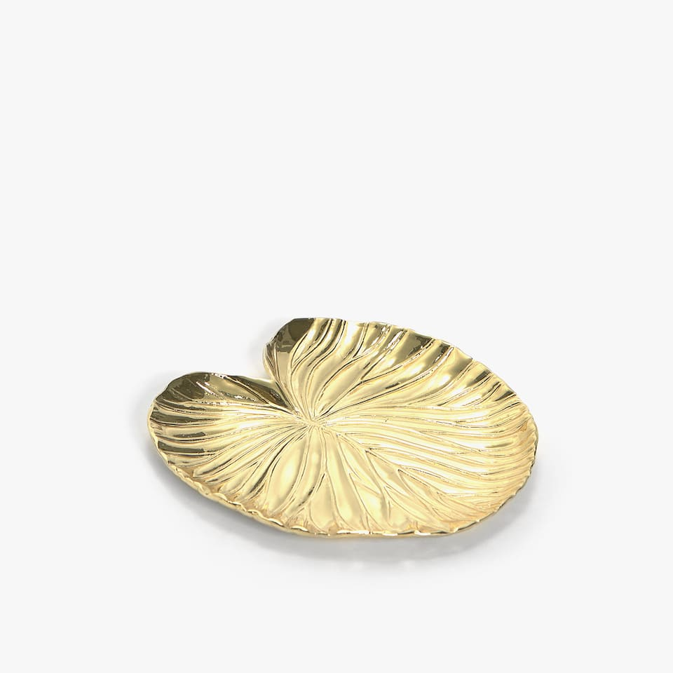 GOLD-TONED LEAF ASHTRAY