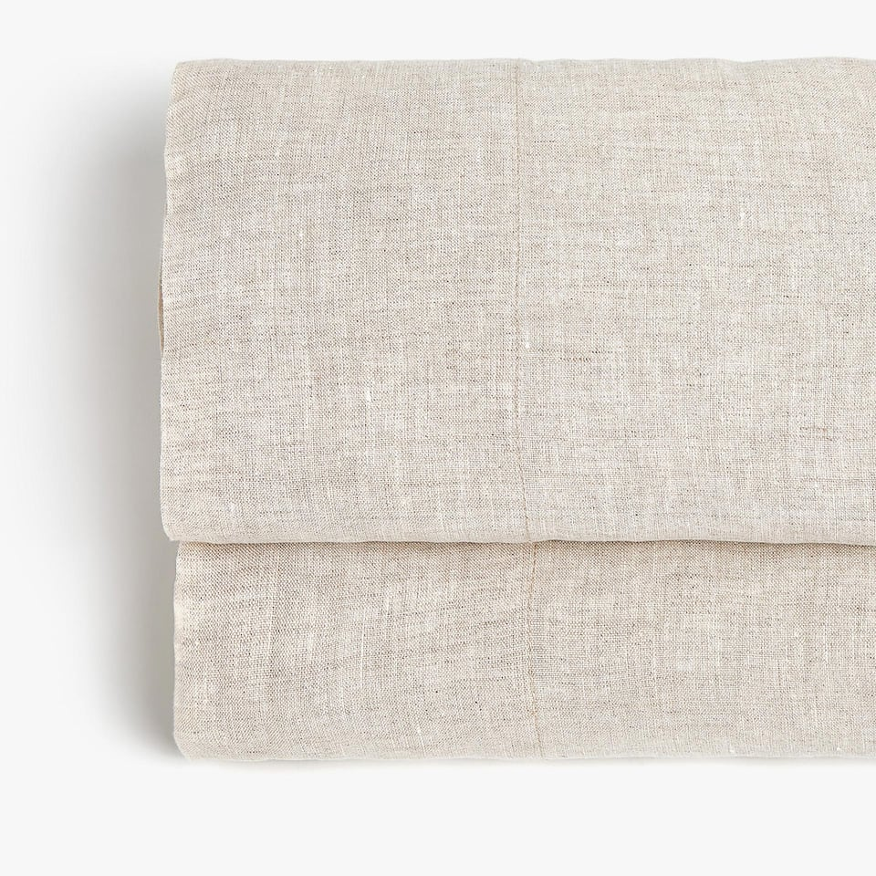 NATURAL-COLOUR LINEN FLAT SHEET