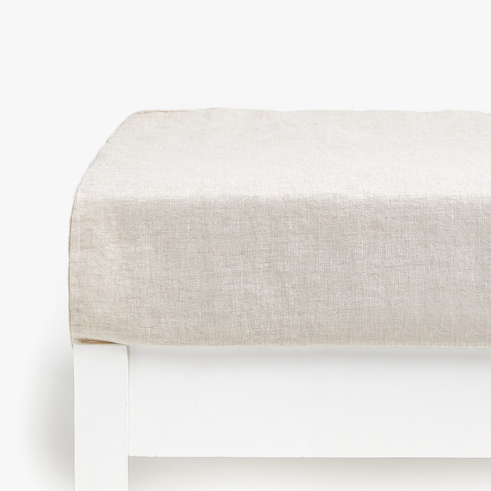 NATURAL-COLOUR LINEN BOTTOM SHEET