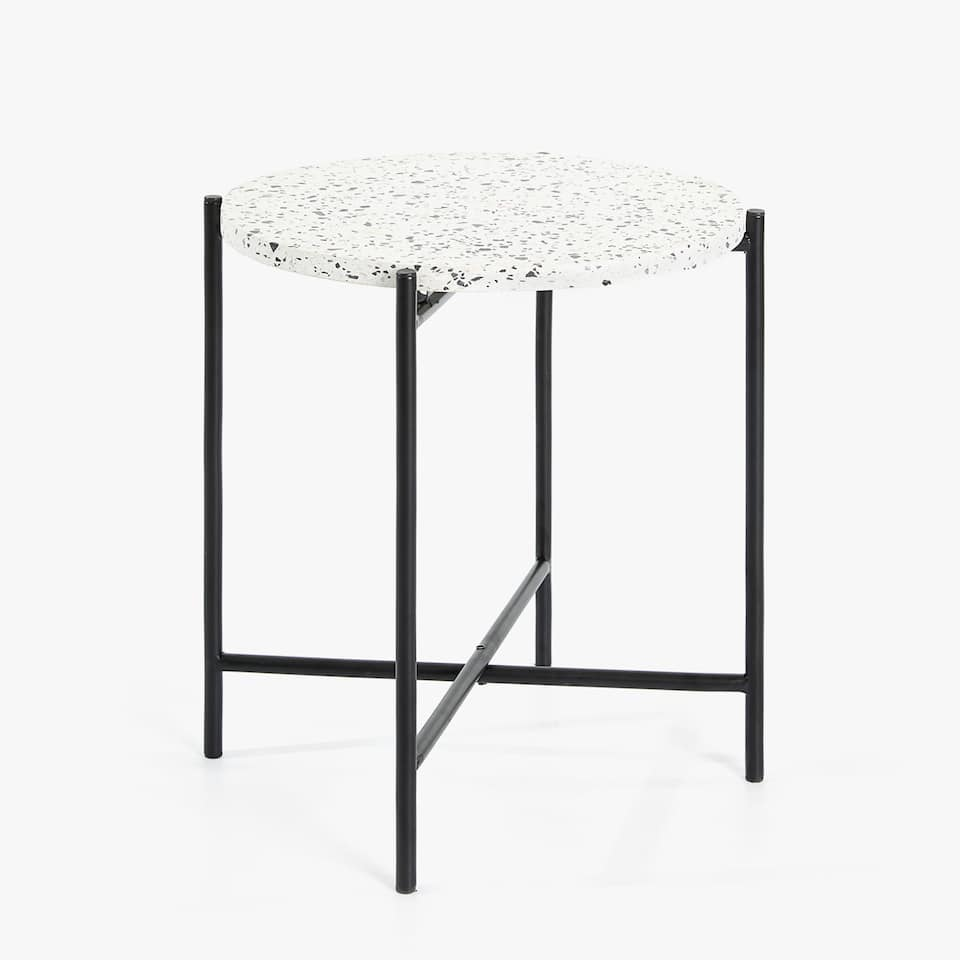 TERRAZZO TABLE WITH BLACK STRUCTURE