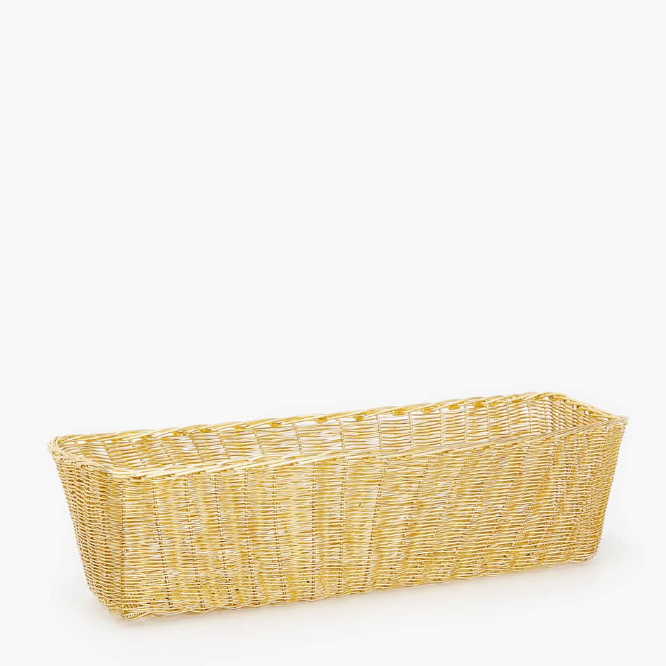 GOLDEN ELONGATED BASKET