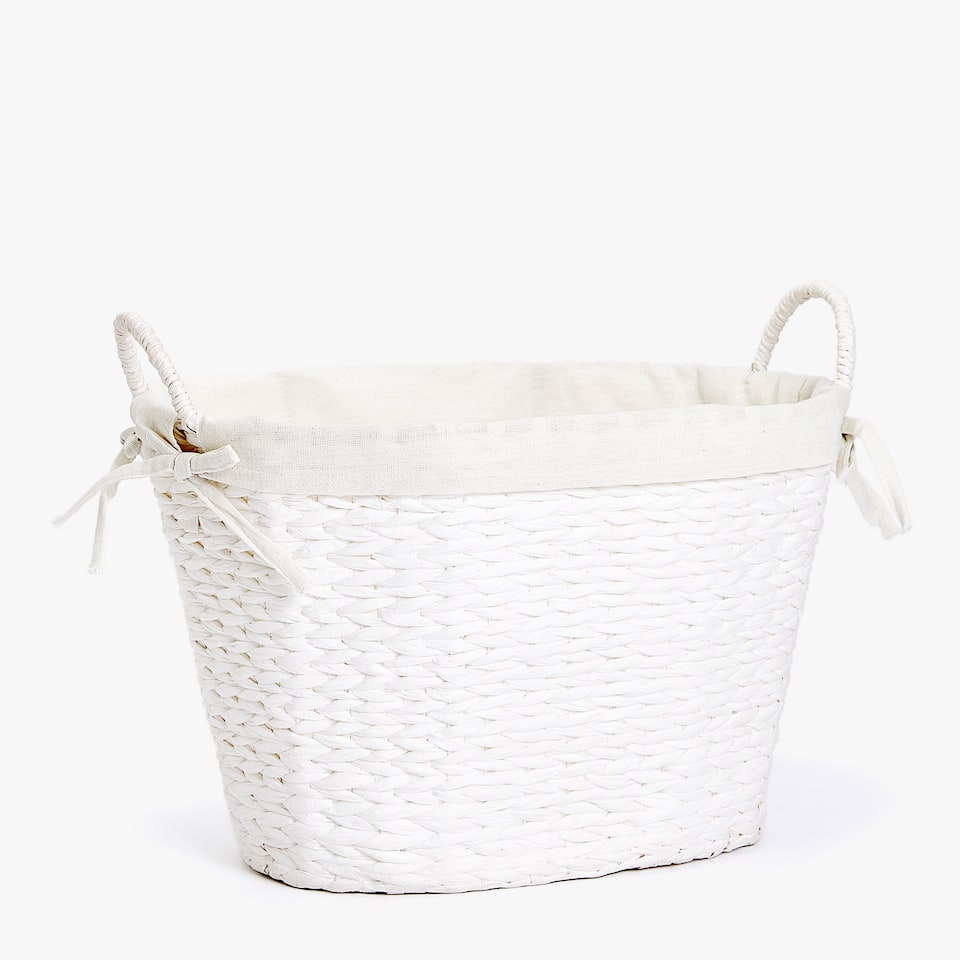 PLAITED OVAL BASKET