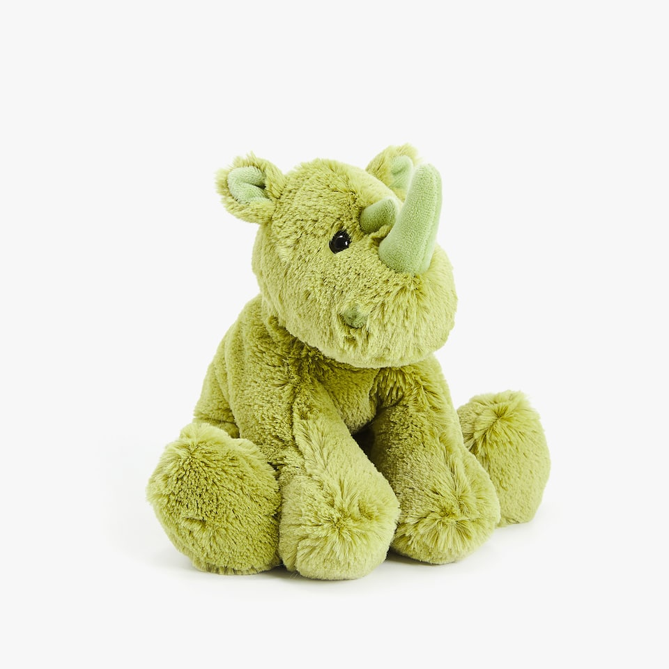 GREEN RHINO SOFT TOY