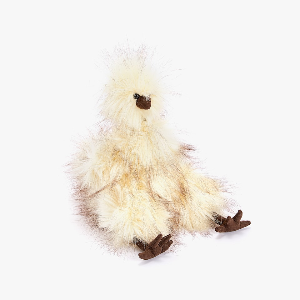 MESSY HAIR SOFT TOY CHICKEN