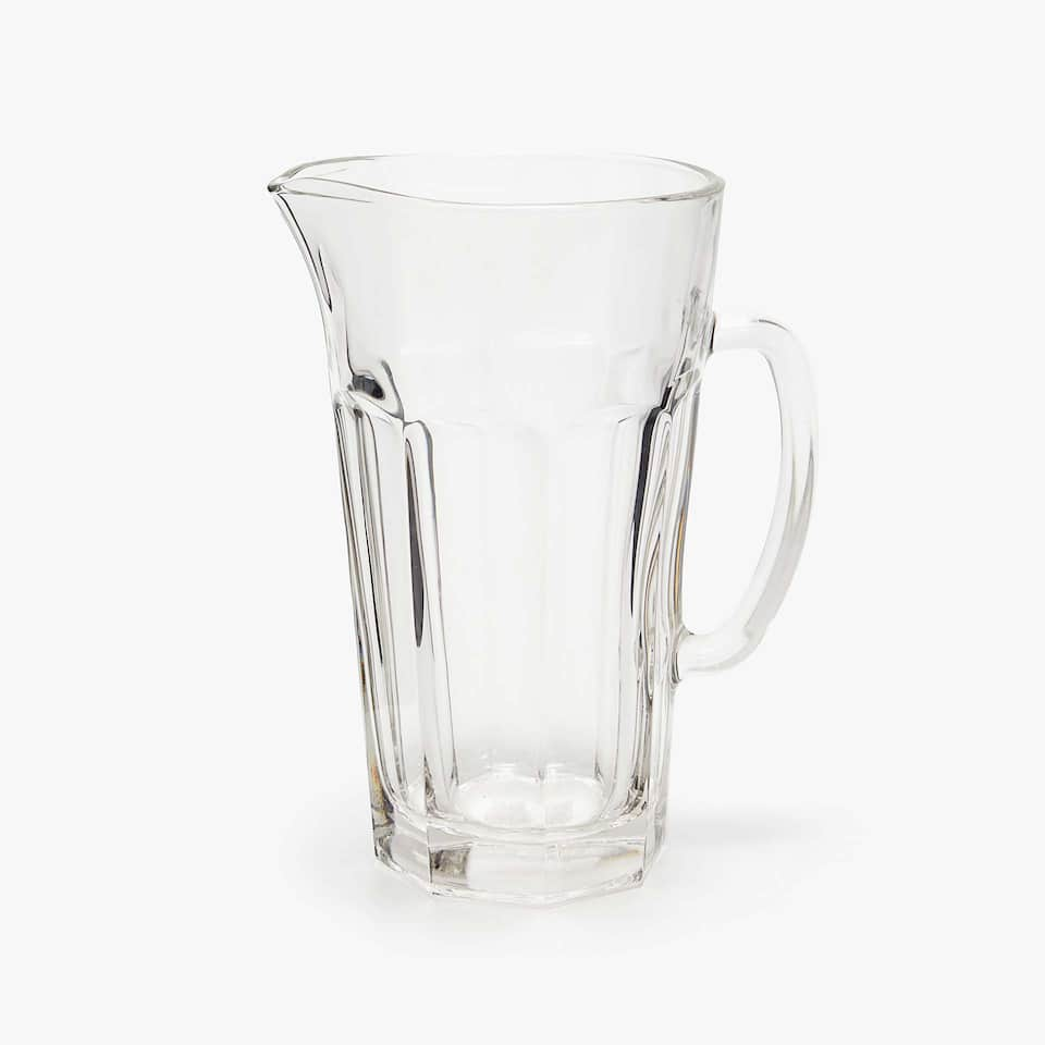 TRANSPARENT GLASS PITCHER