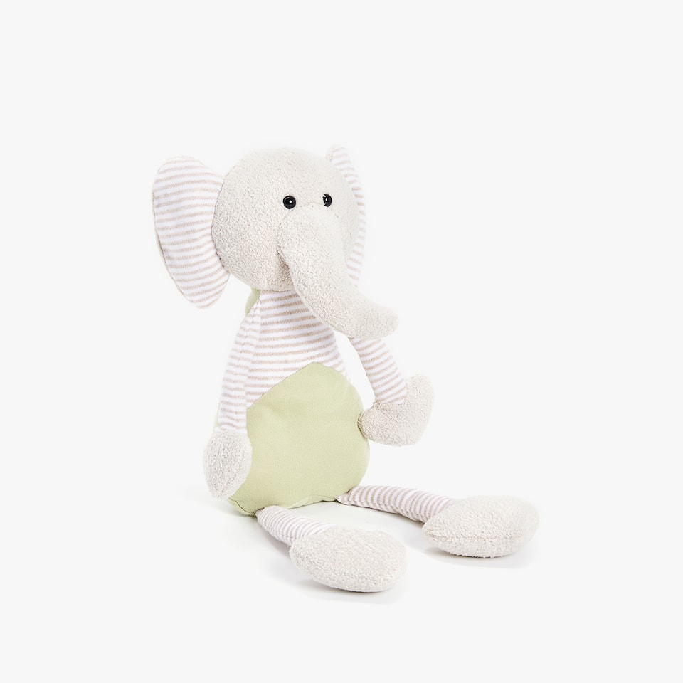 MULTICOLOURED ELEPHANT SOFT TOY
