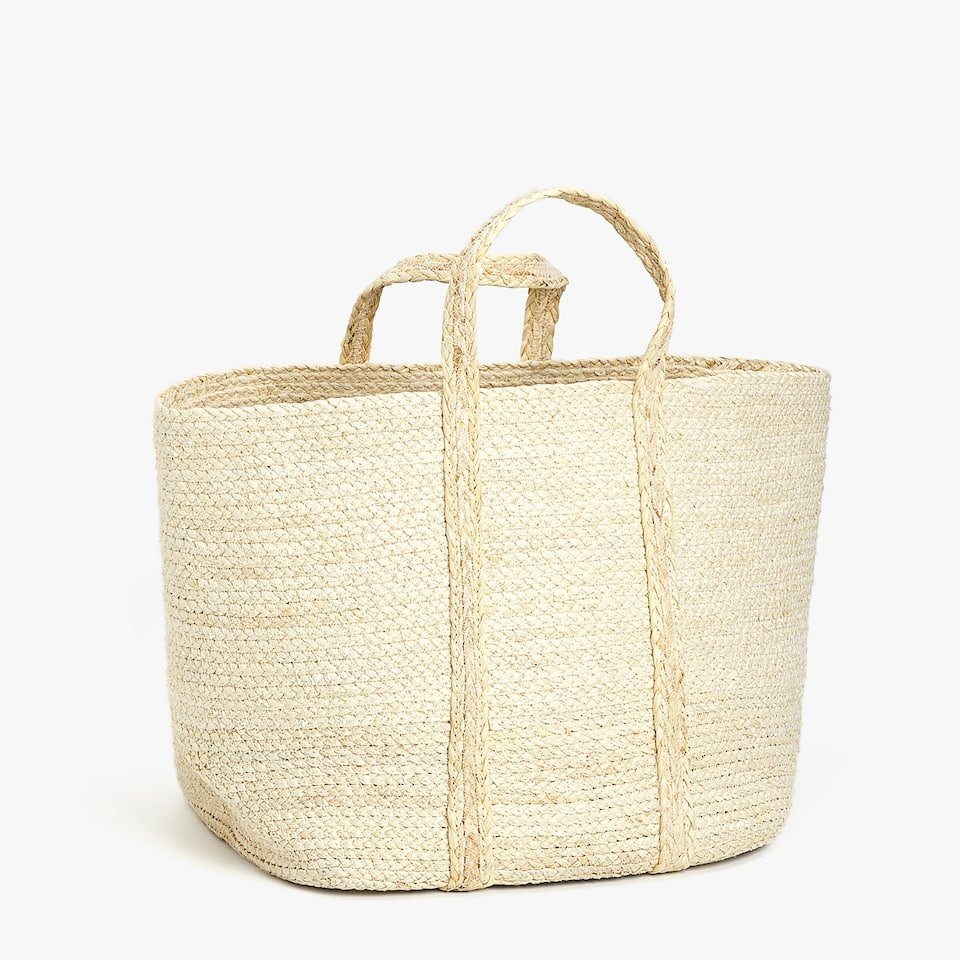 TALL BASKET WITH HANDLES