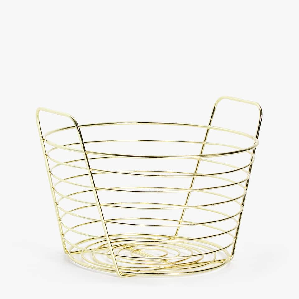 GEOMETRIC METALLIC BASKET
