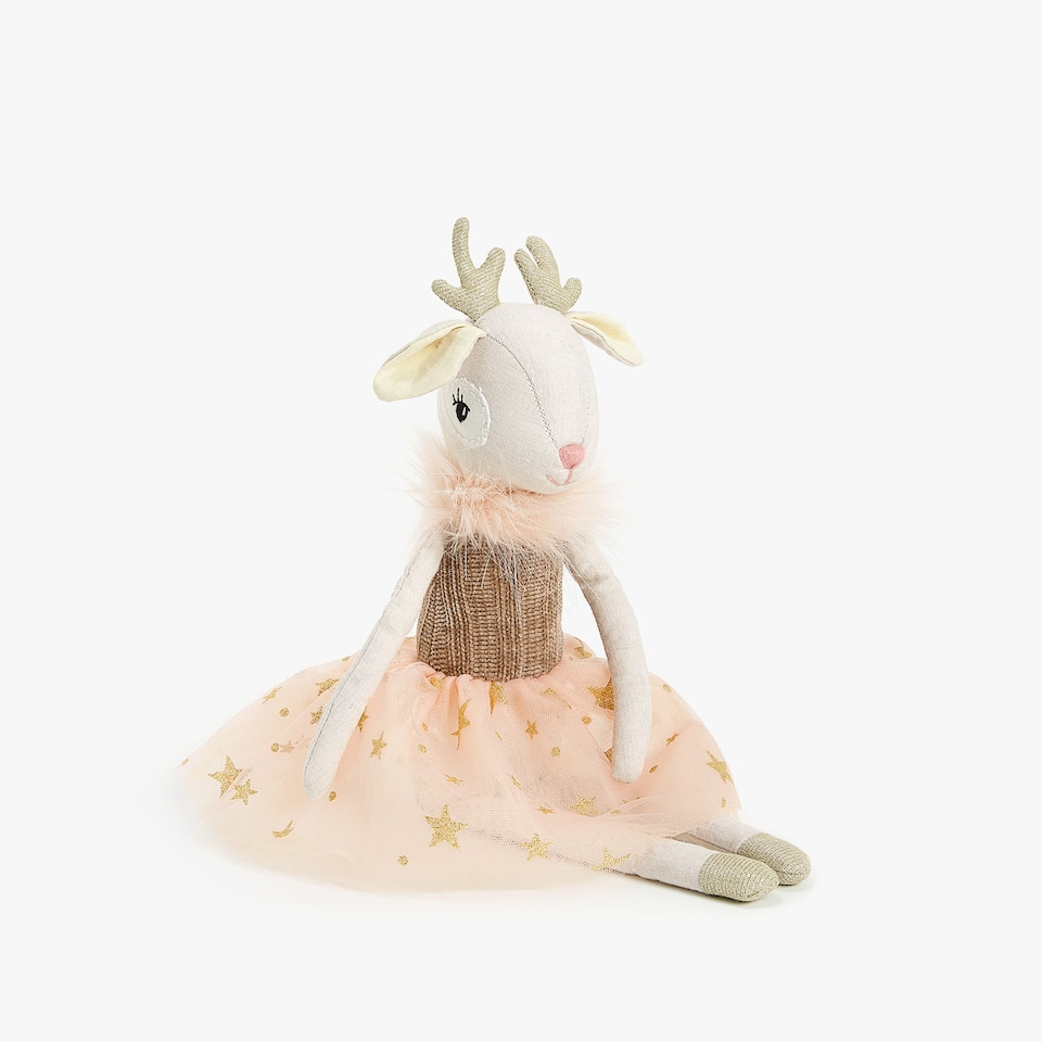 DEER DRESS SOFT TOY