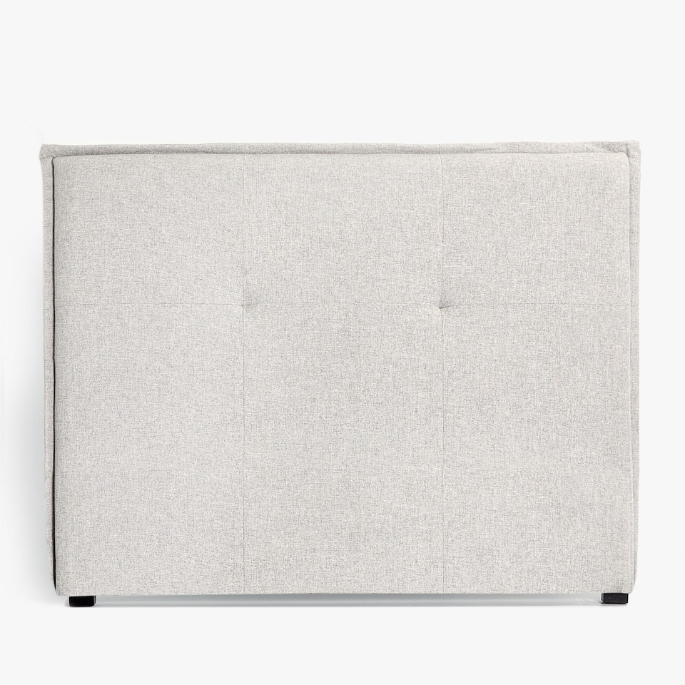GREY FLOWING FABRIC HEADBOARD