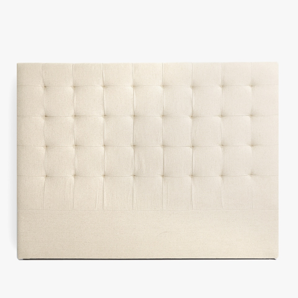 ECRU UPHOLSTERED HEADBOARD