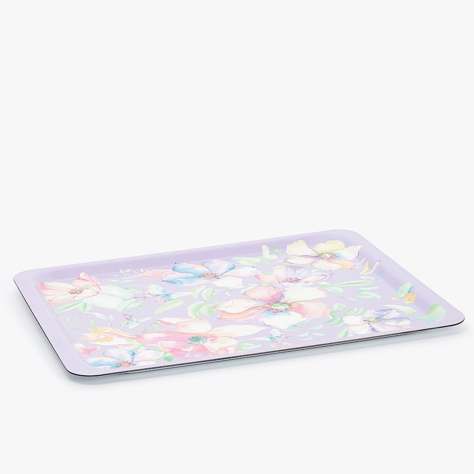 MULTICOLOURED FLORAL TRAY