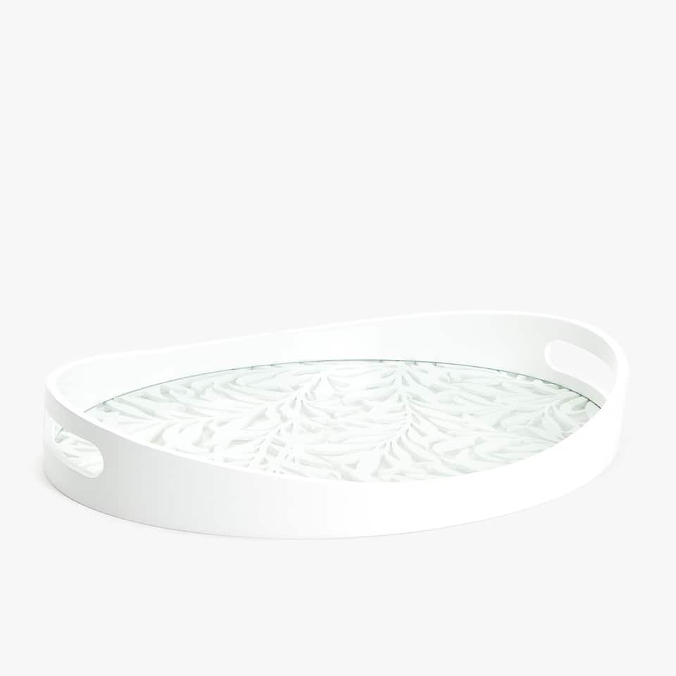 OVAL-SHAPED OPENWORK TRAY