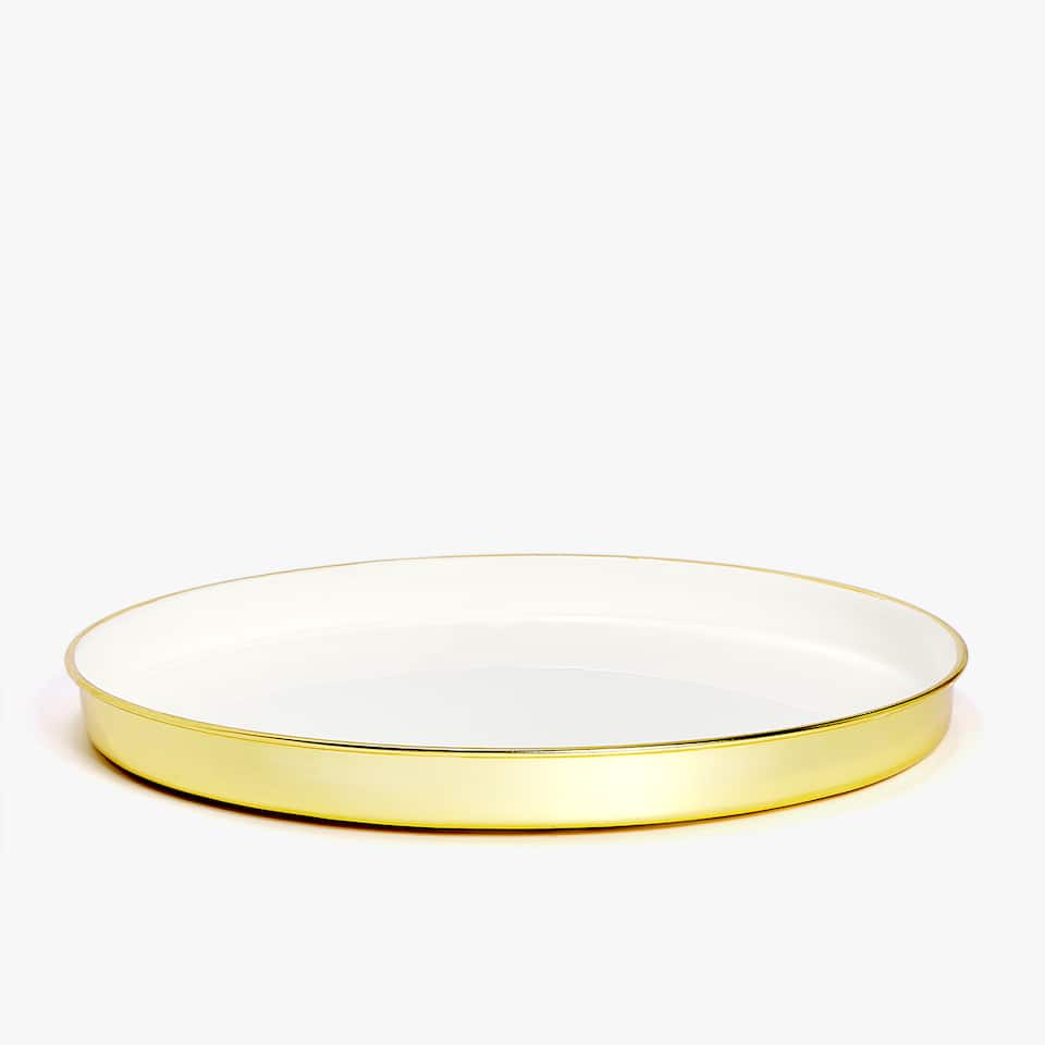 ROUND METALLIC TRAY